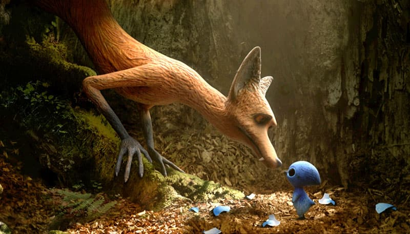 image from film THE FOX AND THE BIRD
