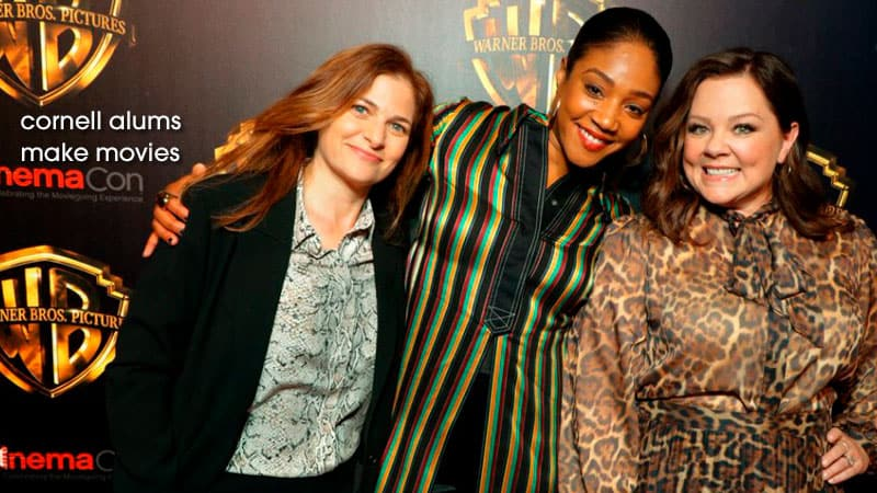 picture of filmmaker Andrea Berloff with stars Tiffany Haddish & Melissa McCarthy (The Kitchen)