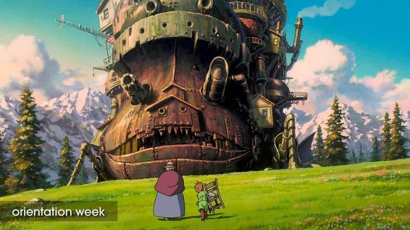 Scene from the film Howl's Moving Castle