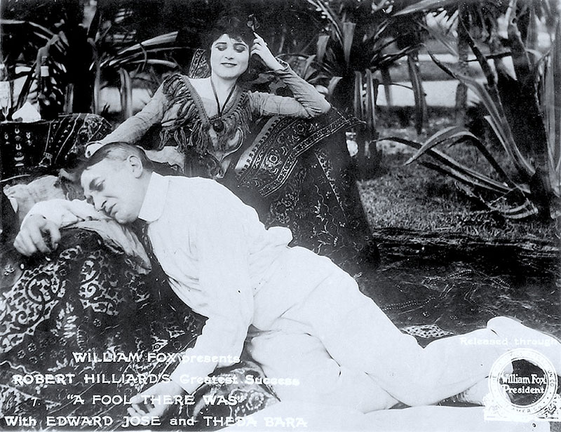 image from the film A FOOL THERE WAS