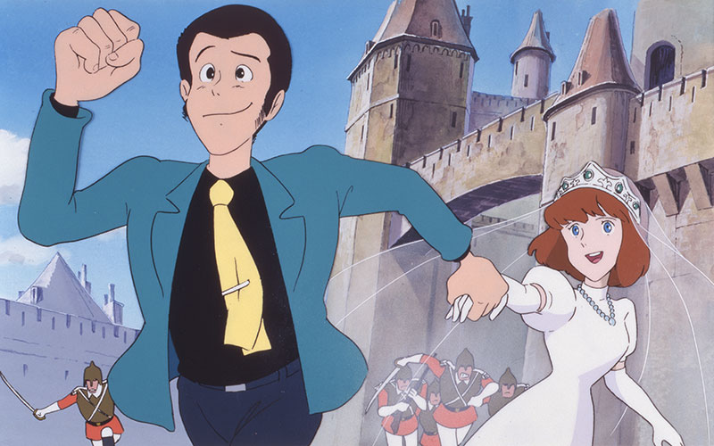image from the film LUPIN III: THE CASTLE OF CAGLIASTRO