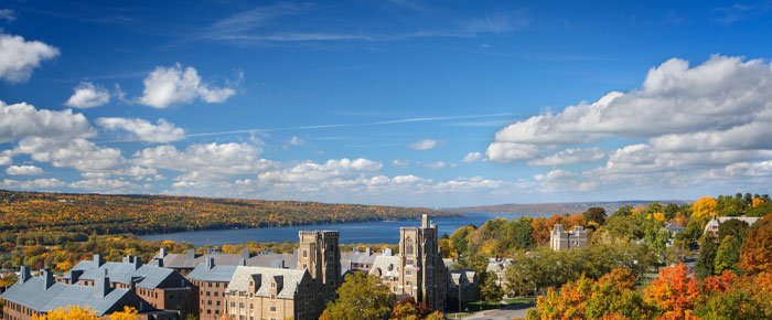 Cayuga Lake from West Campus (photo by Robert Barker; courtesy Cornell University)
