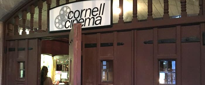 image of the doors to Cornell Cinema