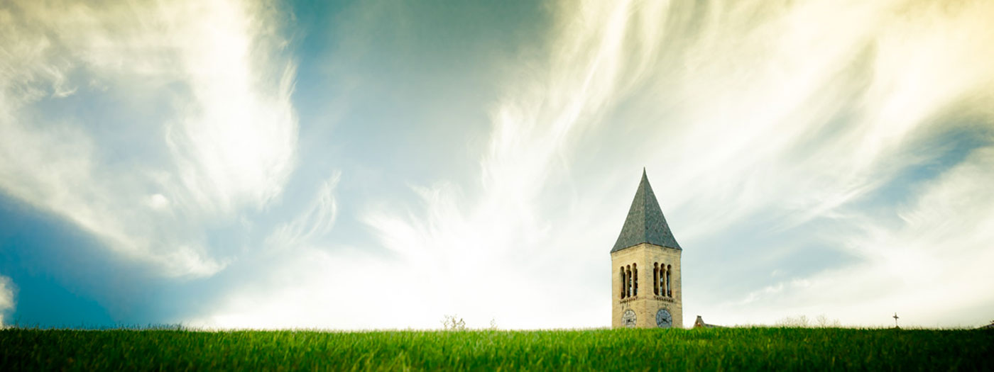 McGraw Tower from Libe Slope in Summer (photo by Jason Koski, Cornell University)