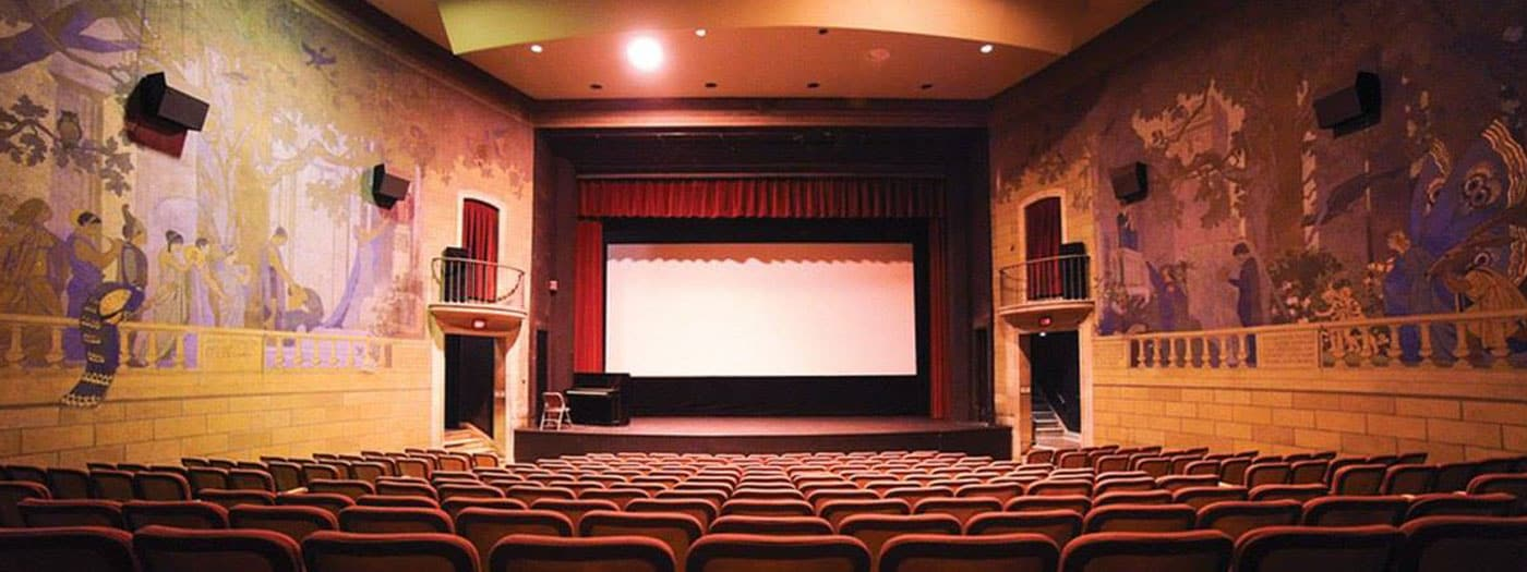 photo of Willard Straight Theatre facing the movie screen